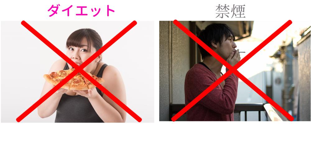 ダイエットや禁煙